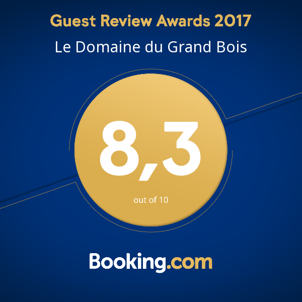 Le Domaine du Grand Bois primé par le Guest Review Awards 2017